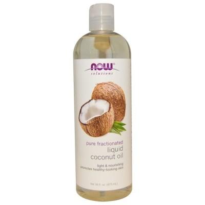 ナウフーズ リキッドココナッツオイル 473ml 【NOW FOODS】Pure Fractionated Liquid Coconut Oil 473ml