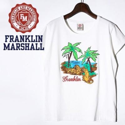 フランクリン&マーシャル FRANKLIN & MARSHALL 半袖Tシャツ レディース ロゴ刺繍 プリント TSHIRT JERSEY ROUND NECK SHORT
