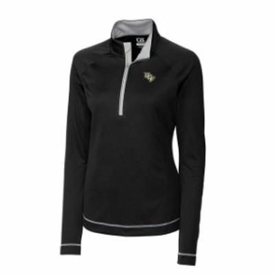 Cutter & Buck カッター アンド バック スポーツ用品  Cutter & Buck UCF Knights Womens Black Evolve Half-Zip Jacket