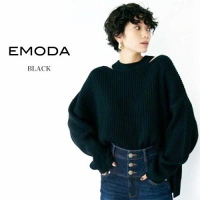 EMODA エモダ 通販 サイドネックスリットニット 041962671601/2019秋冬 TOPS 長袖