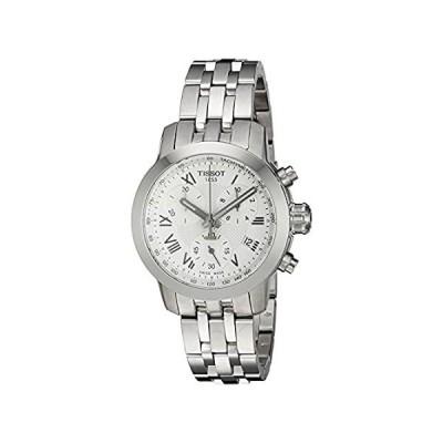 ティソWomen 's Swiss Quartzステンレススチールクォーツ腕時計,カラー: silver-toned (モデル: t055217110