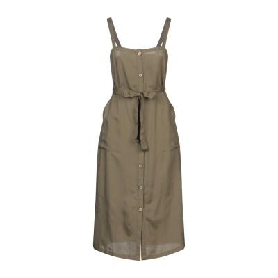 PIECES 7分丈ワンピース・ドレス ミリタリーグリーン S レーヨン 100% 7分丈ワンピース・ドレス