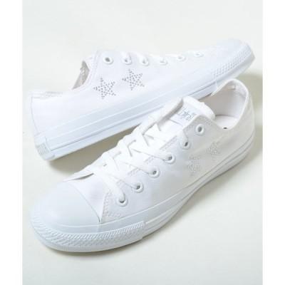 【訳あり】CONVERSE ALL STAR RINESTONE コンバース オールスター ラインストーン ホワイト メンズ スニーカー 32168410w