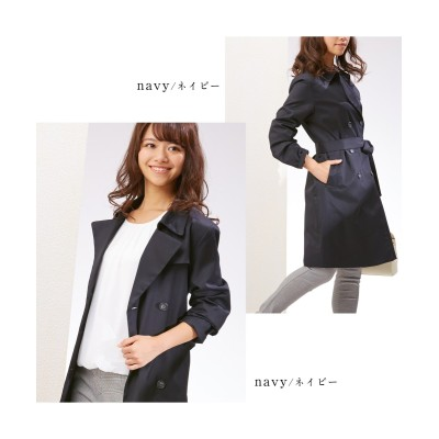 小さいサイズ ベーシックトレンチコート 【小さいサイズ・小柄・プチ】コート, Coat