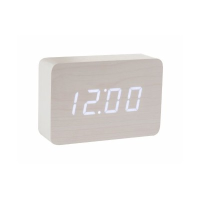 Gingko Brickホワイトクリッククロック(白色LED付き) 並行輸入品 送料無料