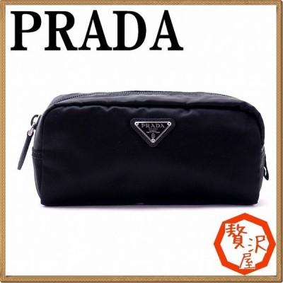 プラダ PRADA ポーチ コスメポーチ 化粧ポーチ 黒 NERO 小物 ロゴ 1NA350-2BQP-F0002