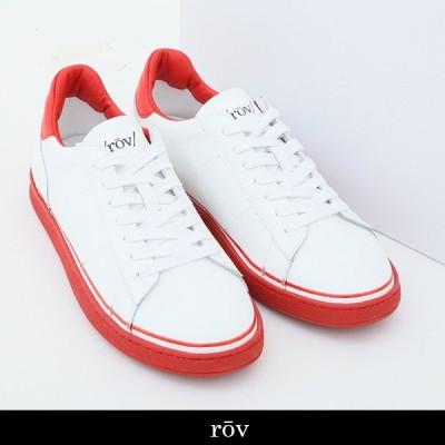 ROV(ローヴ) スニーカー ホワイト×レッド BASIC18304 WHITE RED