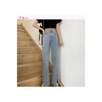 【送料無料】レトロ 女性のジーンズ 荷重 夏 ハイウエスト ストレート ジェ   364331_A63428-7522780