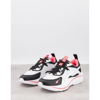 プーマ Puma レディース スニーカー シューズ・靴 Rs Curve Trainers In White Black And Pink ブラック