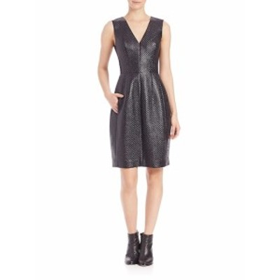 BCBG マックスアズリア レディース ワンピース Livie Quilted Faux-Leather Dress
