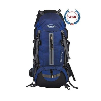DURATON Hiking Backpack 50L, Water Resistant Light-Weight Day Pack for Backpacking Camping and Travel (Navy Blue)