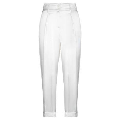 HOPE FASHION パンツ ホワイト M レーヨン 70% / シルク 30% パンツ