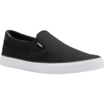 ラグズ スニーカー シューズ メンズ Clipper Slip On (Men's) Black/White Canvas
