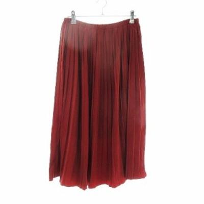 【中古】シュガーローズ Sugar Rose スカート フレア ロング 無地 F 赤 レッド /CK レディース