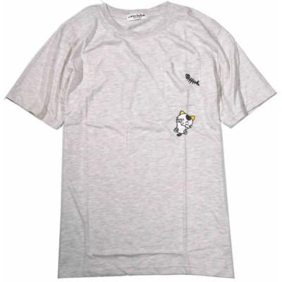 うちのタマ  Tシャツ 半袖  胸ポケット付き フロント&バックP 綿仕様 タマ&フレンズ  LLサイズ 灰  UT1182-433