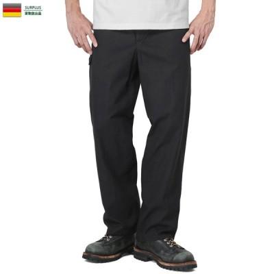 実物 新品 ドイツ軍 ワーク オーバーパンツ デッドストック メンズ ミリタリー ワイド 軍パン ゆったり 放出品【クーポン対象外】