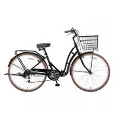 キャプテンスタッグキャプテンスタッグ 折りたたみ自転車 バレイFDB266 折りたたみ自転車  26インチ  ブラック