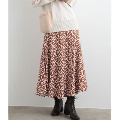 ViS(ビス)/フラワーAラインロングスカート