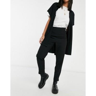 ミスセルフフリッジ レディース カジュアルパンツ ボトムス Miss Selfridge high waist cigarette pants in black Black