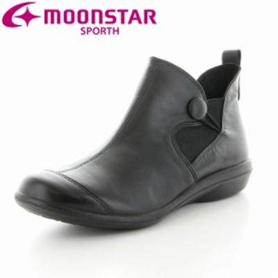 ≪アウトレット・セール≫送料無料 ムーンスター スポルス レディース ブーツ 靴 SP5560 ブラック 国産 幅広4E コンフォートブーツ