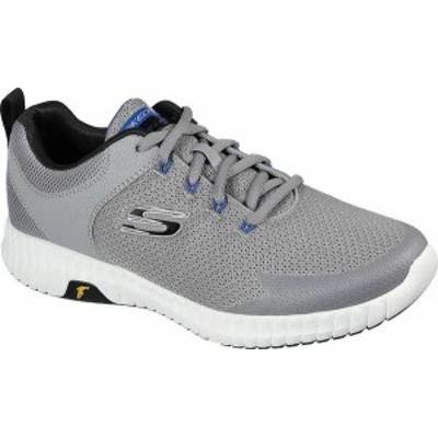 スケッチャーズ メンズ スニーカー シューズ Men's Skechers Elite Flex Prime Take Over Running Sneaker Light Gray/Black