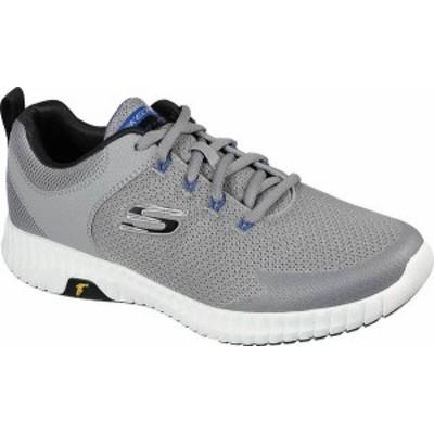 スケッチャーズ メンズ スニーカー シューズ Men's Skechers Elite Flex Prime Take Over Running Sneaker Light Gray/Black