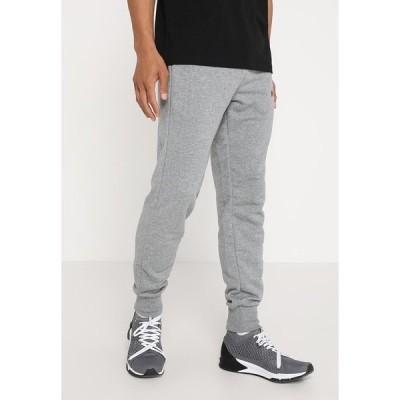 プーマ カジュアルパンツ メンズ ボトムス ESS LOGO PANTS - Tracksuit bottoms - medium gray heather