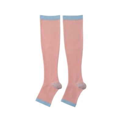 【WEB限定】おやすみ着圧ハイソックス2足組(フリーサイズ) ハイソックス・オーバーニー, Socks