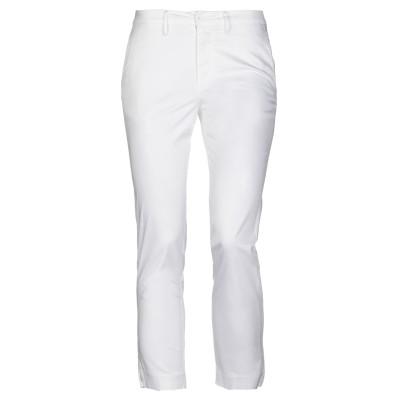 EUROPEAN CULTURE パンツ ホワイト 26 コットン 95% / ポリウレタン 5% パンツ
