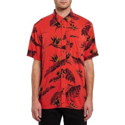 ボルコム Volcom メンズ 半袖シャツ トップス Floral Erupter Short - Sleeve Shirt Lava Rock Red