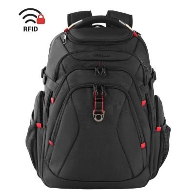 KROSER リュック17.3インチpcバッグ 旅行バックパック 登山バックパック大容量リュックサック パソコンバッグ コンピュータバッグ ラップトップバッグ USB充電ポ