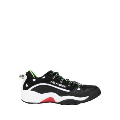 TOMMY JEANS スニーカー&テニスシューズ(ローカット) ブラック 40 革 / 紡績繊維 スニーカー&テニスシューズ(ローカット)