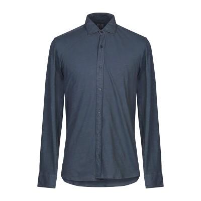 R3D WÖÔD シャツ ブルーグレー S コットン 100% シャツ