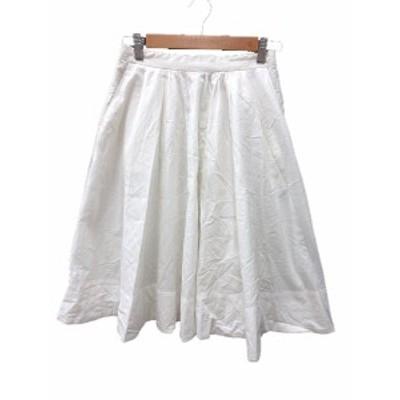 【中古】イエナ IENA スカート フレア ミモレ ロング 36 白 ホワイト /MS レディース