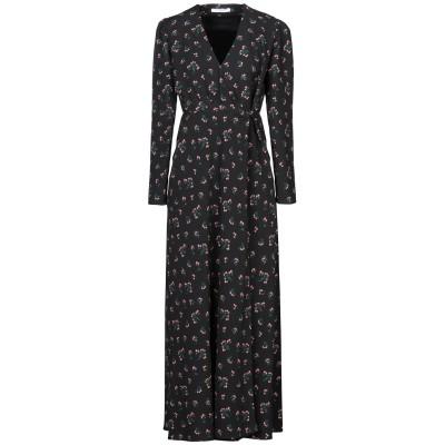 VIVETTA ロングワンピース&ドレス ブラック 38 ポリエステル 100% ロングワンピース&ドレス