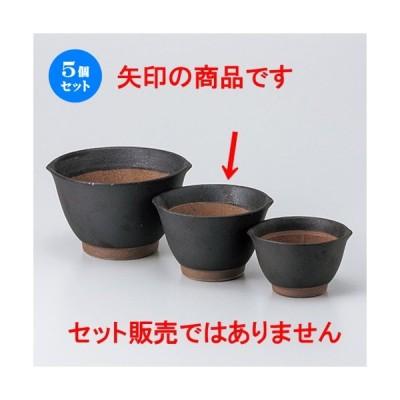 5個セットスリ鉢 黒マット麦とろ鉢(中) [ 13.2 x 12.2 x 8.2cm ] 【 料亭 旅館 和食器 飲食店 業務用 】