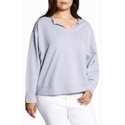Sanctuary サンクチュアリ ファッション トップス Sanctuary NEW Purple Womens Size 1X Plus Raw Edge V-Neck Sweater