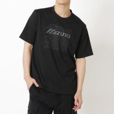 ミズノ メンズ グラフィックTシャツ[ユニセックス] 09ブラック M ウエア 半袖 D2MA1011
