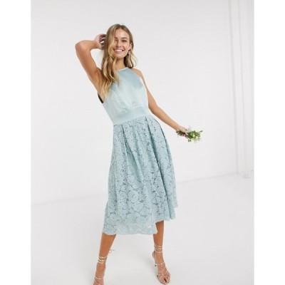 オアシス レディース ワンピース トップス Oasis bridesmaid lace skater dress in mint