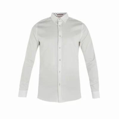 テッドベーカー シャツ Plateen Ls Satin Strech Shirt white