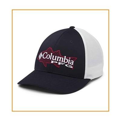 Columbia Unisex PFG Signature 110 Ii Ball Cap, Coll Navy/Red Spark Striper, One Size【並行輸入品】