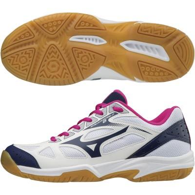 ミズノ (MIZUNO) ジュニア サイクロンスピード 2 Jr(ホワイト×ネイビー×ピンク) V1GD191014 [分類:バレーボール バレーボールシューズ] 送料無料