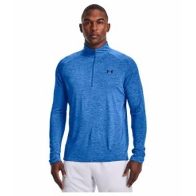 アンダーアーマー メンズ シャツ トップス UA Tech 1/2 Zip Brilliant Blue/
