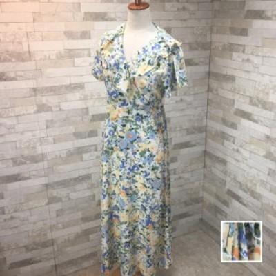 韓国 ファッション レディース ワンピース 春 夏 新作 カジュアル naloI870  シアー カシュクール セミフレア エレガント シンプル コー