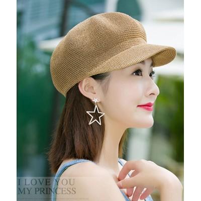 (miniministore/ミニミニストア)ペーパーキャスケット 麦わら帽子 キャップ レディース 帽子 uv ストローハット 軽量 日よけ 紫外線対策 涼しい 帽子/レディース キャメル