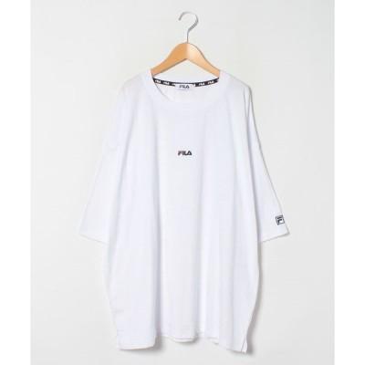 【大きいサイズのマルカワ】【別注】【FILA】フィラ 大きいサイズ ビッグシルエット ミニロゴ刺繍 半袖Tシャツ ユニセックス