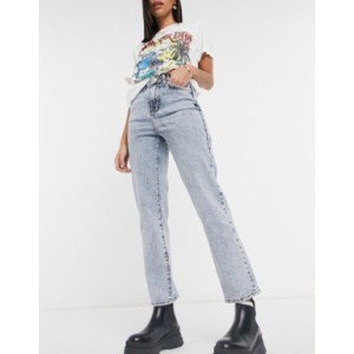 ニュールック レディース デニムパンツ ボトムス New Look straight leg jeans in light blue Light blue