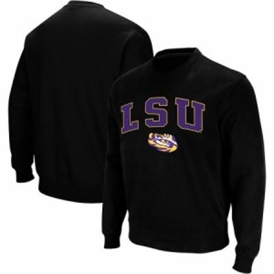 """スウェット """"LSU Tigers"""" Colosseum Arch - Logo Crew Neck Sweatshirt - Black"""