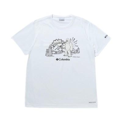 コロンビア(Columbia) メンズ ムースアベニュー ショートスリーブ Tシャツ Moose Avenue TM Short Sleeve Tee WHITE SNOWMAN PM0172 100 半袖 トップス