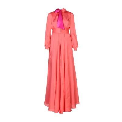 ランバン LANVIN ロングワンピース&ドレス コーラル 34 シルク 100% ロングワンピース&ドレス